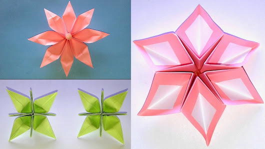 3 simple and easy origami paper flowers how to make it how to make 3 simple and easy origami paper flowers cara membuat 3 origami bunga kertas mightylinksfo