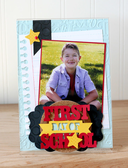 first day of school frame by Kimbery Crawford