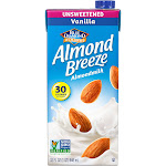 Blue Diamond Almond Breeze Unsweetened Almond Milk, Vanilla - 32 fl oz carton