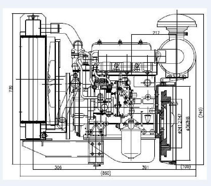 Generator Set Drawing