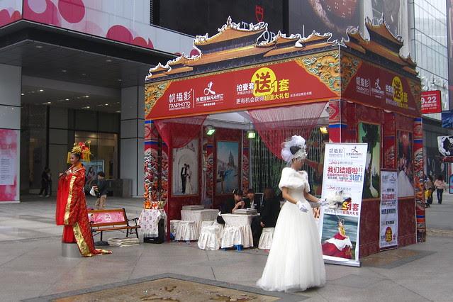 Wedding photography models, Chunxi Lu, Chengdu