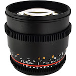 Rokinon CV85M-MFT Telephoto Lens for Micro Four Thirds - 85mm - T/1.5