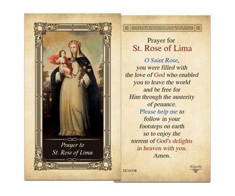Laminated Holy Cards : St. Rose of Lima Laminated Holy Card