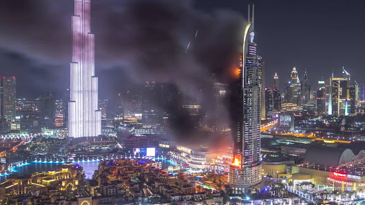 The Address Downtown Dubai – Hotel Fire TIMELAPSE