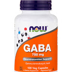 Now Foods GABA 750mg 100