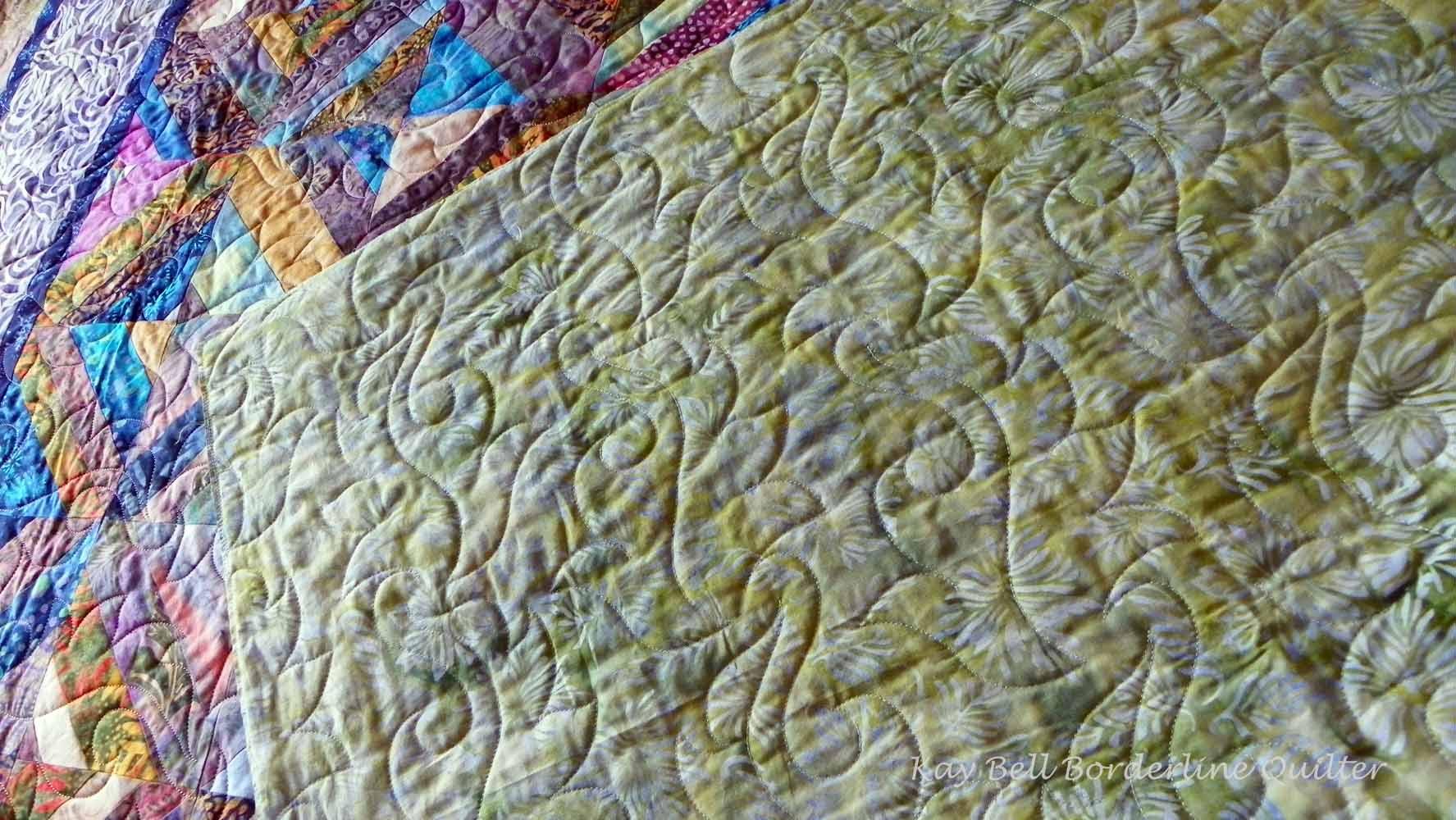 Anne's beautiful batik quilt 2