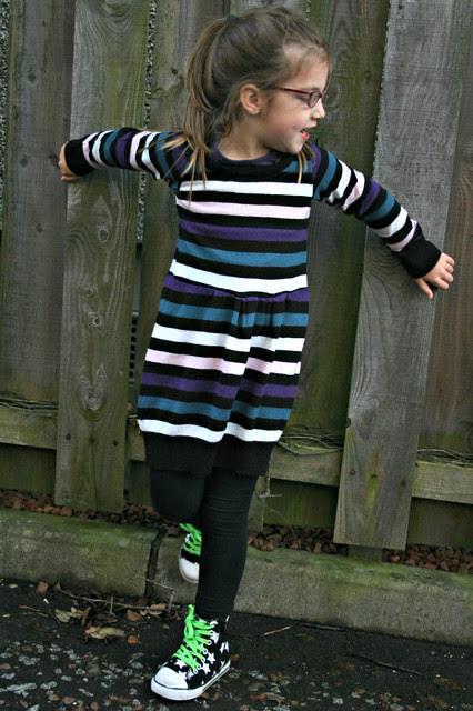 sweater refashion dress 2