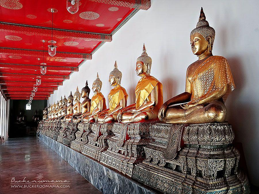 5.18.2012, A row of Buddhas (Bangkok. Thailand)