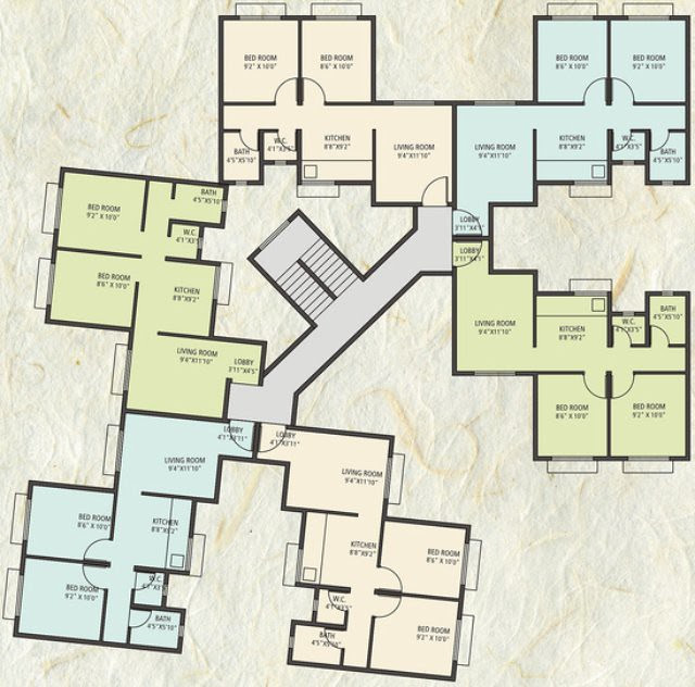 Anandgram Talegaon Dhamdhere 2 BHK Flats 600 sq.ft. & 575 sq.ft. in E & J Buildings