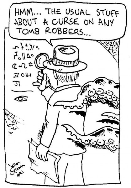 Indiana Jones — a silly illo by Ian Gunn - Dark Matter Zine