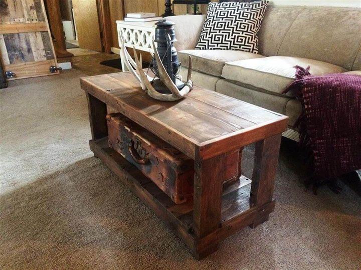DIY Rustic Wood Pallet Coffee Table   99 Pallets