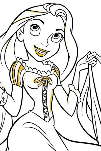 Rapunzel Prenses Boyama Sayfasi Sayfa Boyama