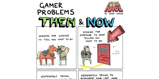 Gamer Problems Then & Now [Comic]