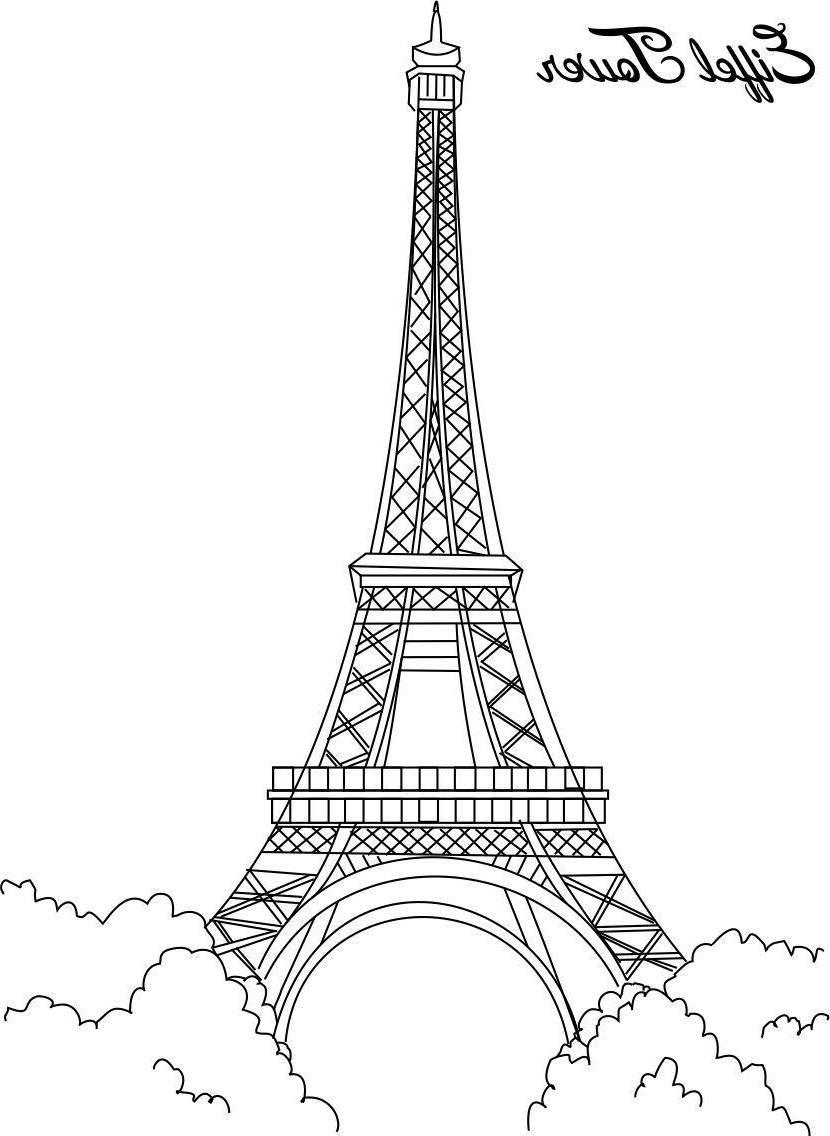 Coloriage De Paris Gobelune