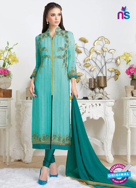 RT 20454 Sky Blue Party Wear Suit
