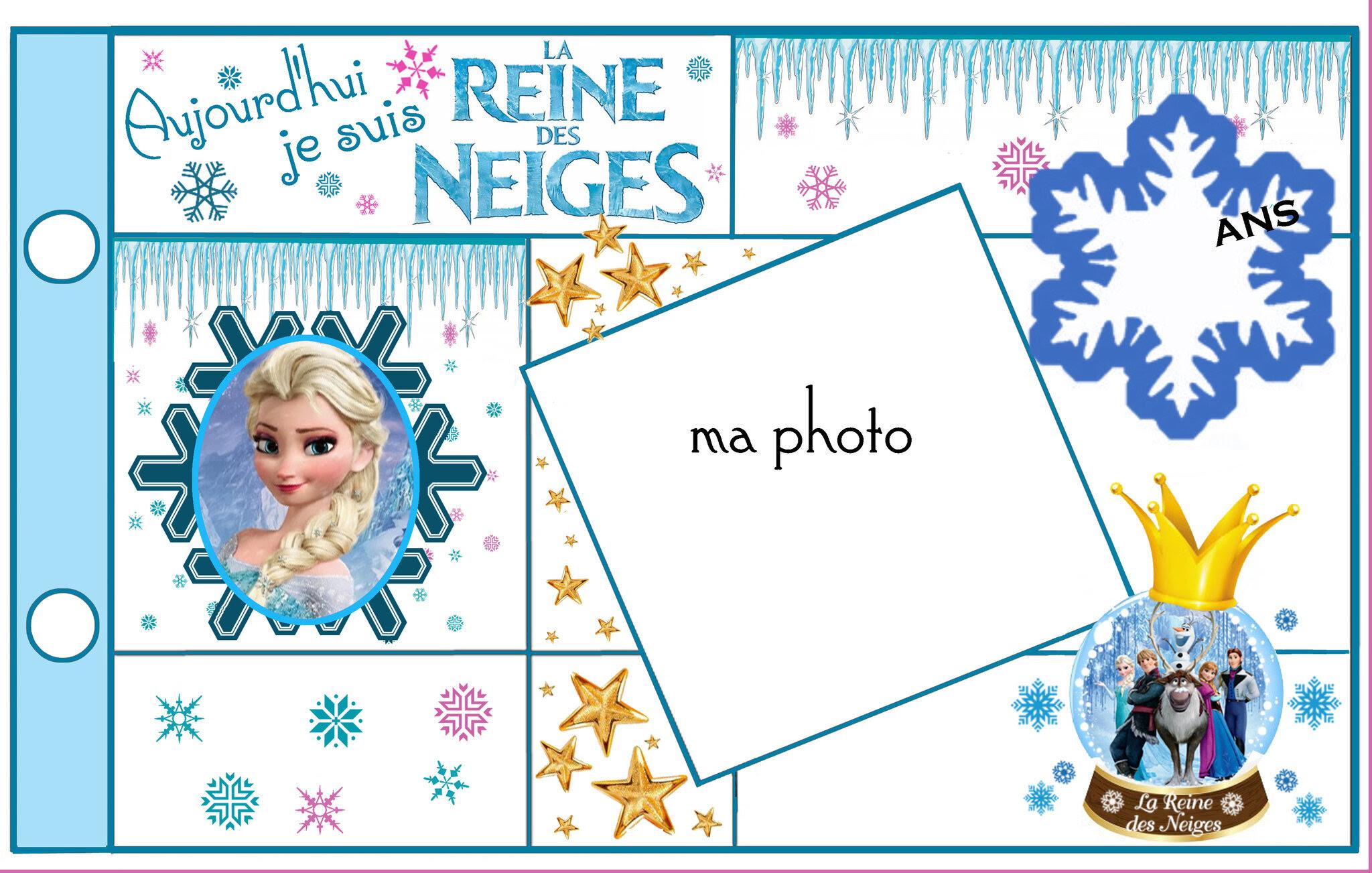 carte bon anniversaire reine des neiges
