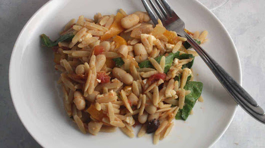 Orzo with Spinach and White Beans | Cooking Chat