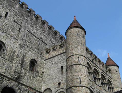 Gravensteen Castle in Gent Belgium - Castle of the Counts