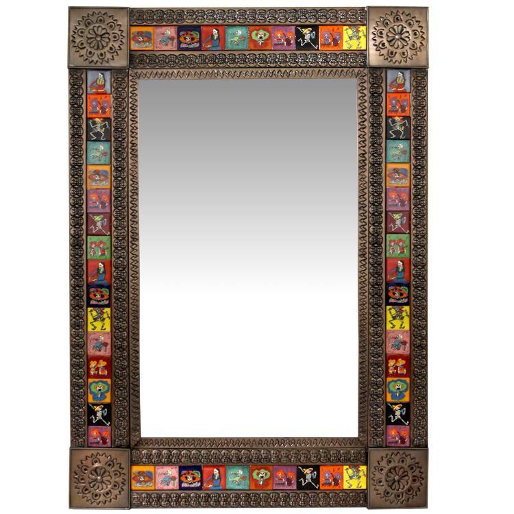 Talavera Tile Mirrors Collection Talavera Tile Mirrorw Day Of The