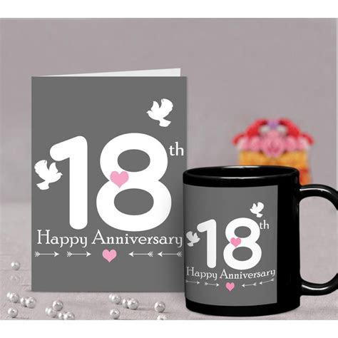 18th Wedding Anniversary Gift for Parents, Father, Mother