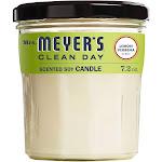 Mrs Meyers Clean Day Scented Candle, Lemon Verbena Scent - 7.2 oz jar