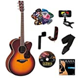 Yamaha FJX730SC Brown Sunburst Medium Jumbo Acoustic-Electric Guitar Bundle w/Legacy Accessory Kit