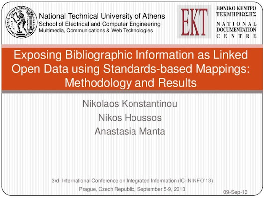 Exposing Bibliographic Information as Linked Open Data using Standa...