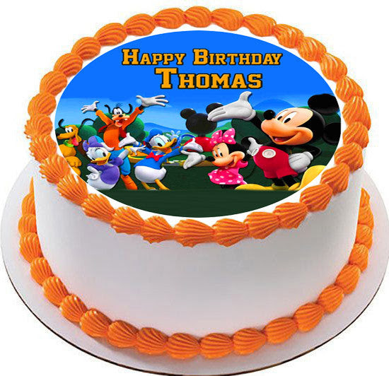 Mickey Mouse Clubhouse 4 Edible Cake Topper Cupcake Toppers