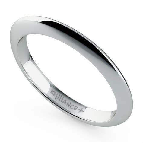 Knife Edge Wedding Ring in Platinum