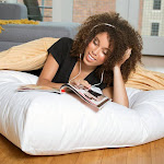 Downlite Extra Large 36-inch Dorm Floor Cushion with Down Alternative Fill