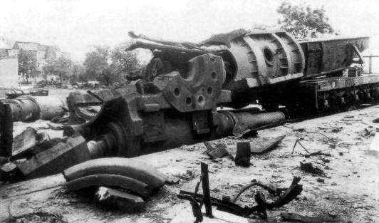 Cañón ferroviario Dora Schwerer Gustav railway gun Grafenwöhr