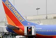 Un aereo della compagnia aerea Southwest Airlines