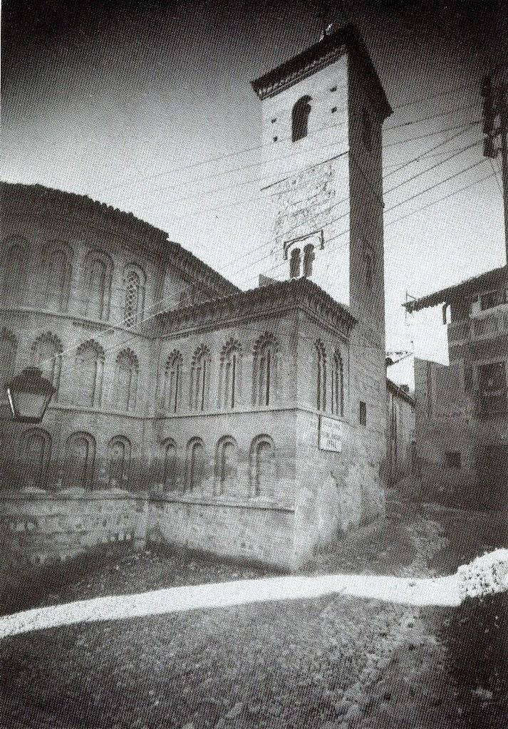 Iglesia de San Bartolomé tras la restauración de 1940. Fotografía Rodríguez