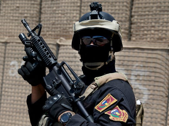 The Iraqi Counter Terrorism Service force was trained