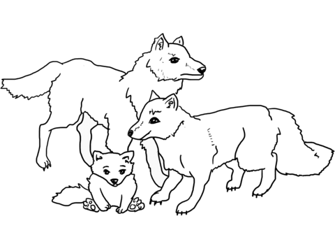 Dibujo De Manada De Lobos Para Colorear Dibujos Para Colorear