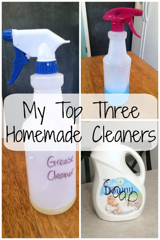 My Three Favorite Homemade Cleaners - frazzled JOY