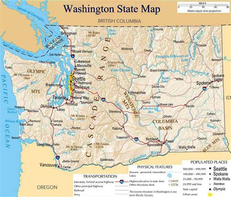 washington state map mapsofnet
