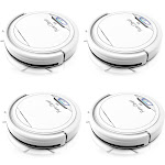 Pyle PUCRC25.5 PureClean Smart Robot Vacuum Home Cleaning System, White (4 Pack) by VM Express
