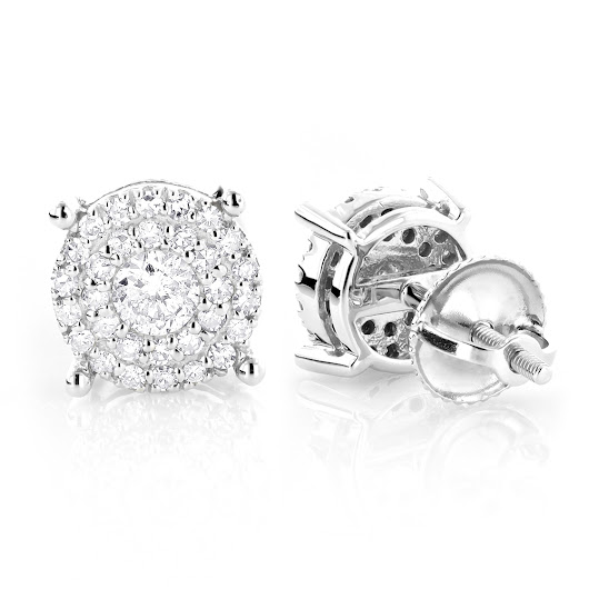 Round Diamond Stud Earrings 0.6ct 14K Gold