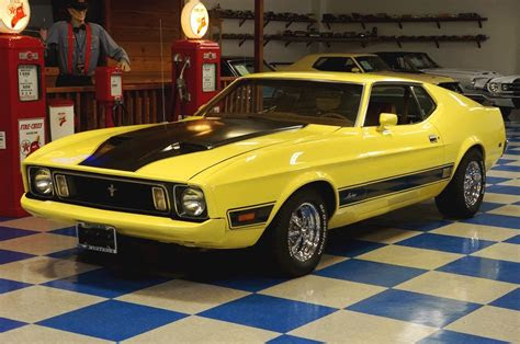 ford mustang mach  yellow black ae classic cars