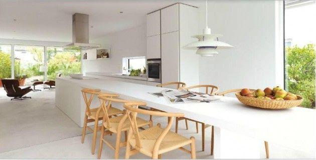 Diseños de Cocinas Blancas 9 Atractivos Diseños de Cocinas Blancas