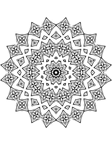 mandala ausmalbild blumen - Über blumen