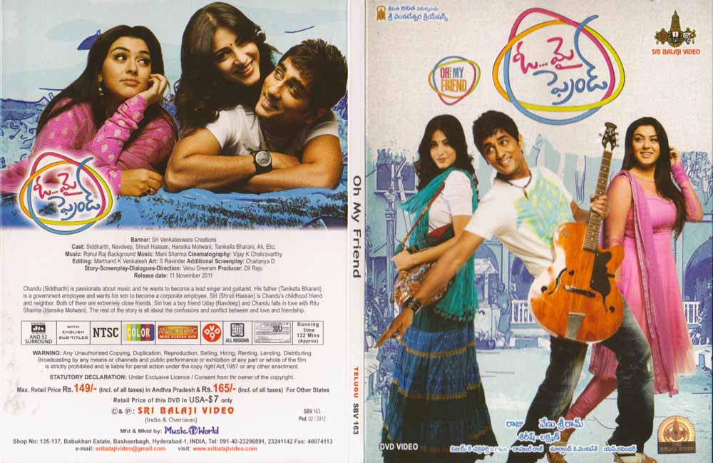 Description Oh My Friend Telugu Dvd