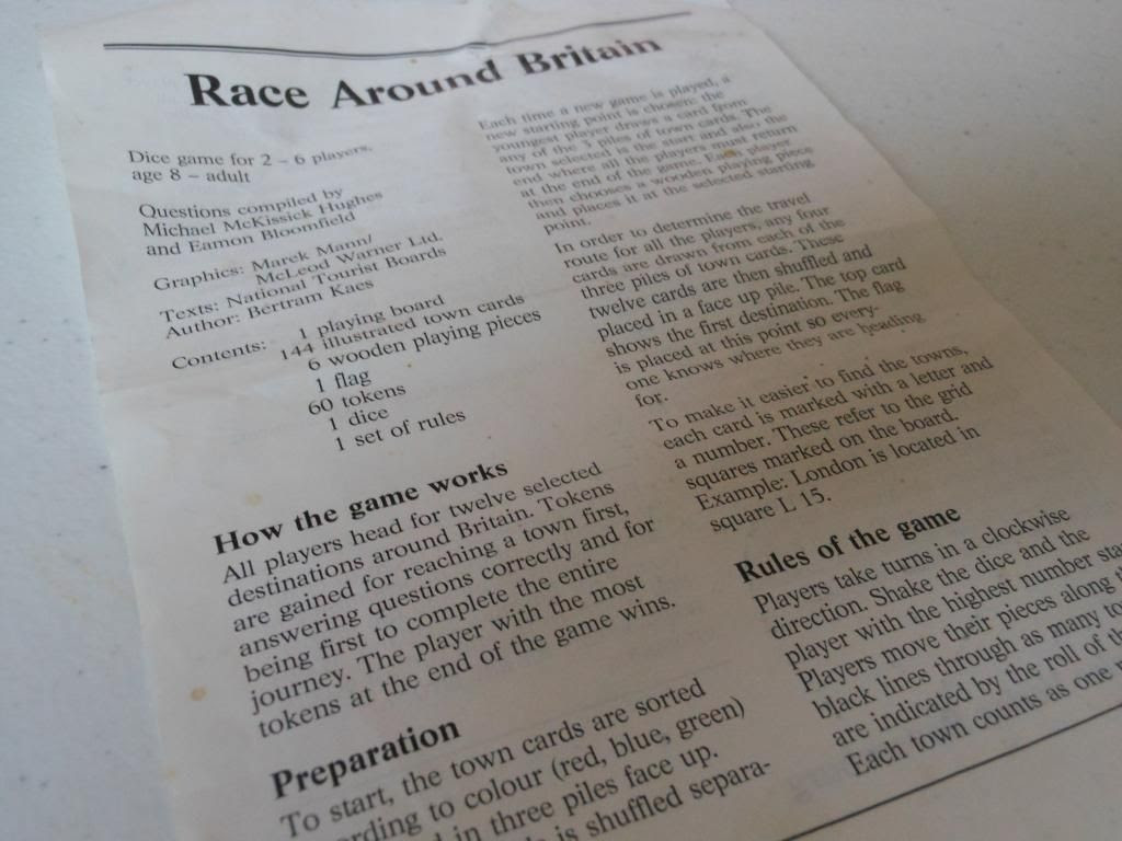 Race Around Britain rules