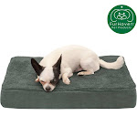 FurHaven Pet Dog Bed   Deluxe Cooling Gel Memory Foam Orthopedic Terry & Suede Mattress Pet Bed For Dogs & Cats (Forest, Small)