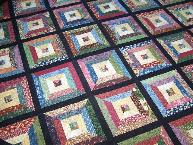 Custom Strippy Lap Quilt in Thimbleberries Sweet Home
