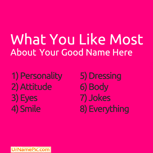 About Me Name Picture - Cool Name Generator