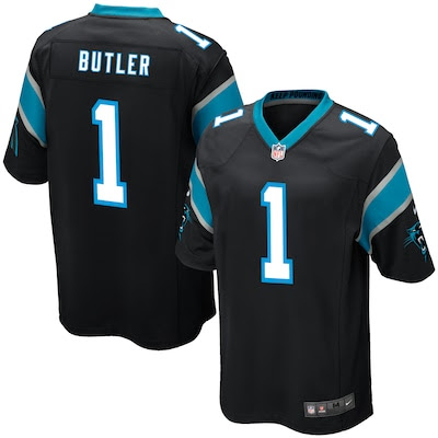 Men's Carolina Panthers Vernon Butler Nike Black 2016 Draft Pick Game Jersey