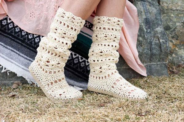 Crochet Kit - Coachella Boots with Flip Flop Soles
