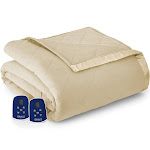 Micro Flannel Shavel High Quality Durable Heating Technology Luxuriously Soft & Warm Electric Blanket - King Chino Solid